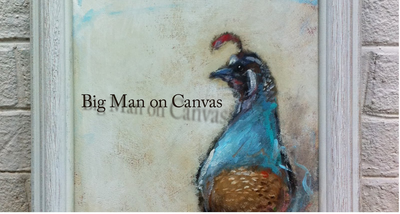 Big Man on Canvas