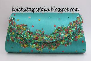 Ijo Tosca Caem dan Cakep Clutch Bag Mewah Elegant Tas Pesta
