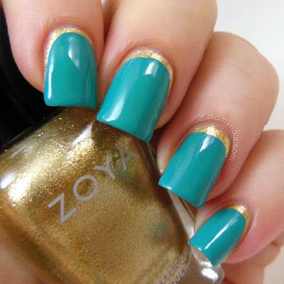 ruffian manicure with Zoya Ziv