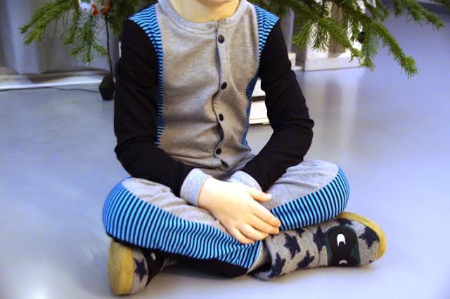 Wolf Pyjamas (pattern Zonen09) - huisje boompje boefjes