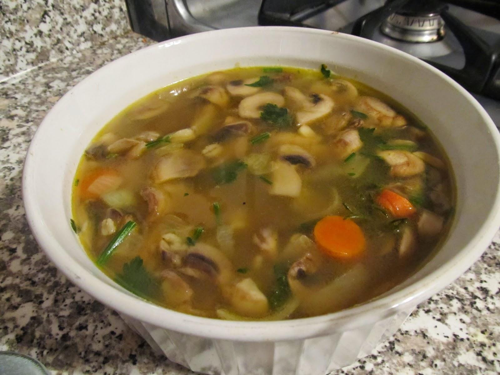 Run 4 CMT: Soup Sunday- Mushroom Barley Soup