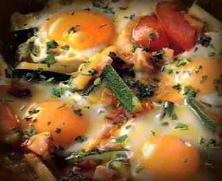 Huevos con calabacines