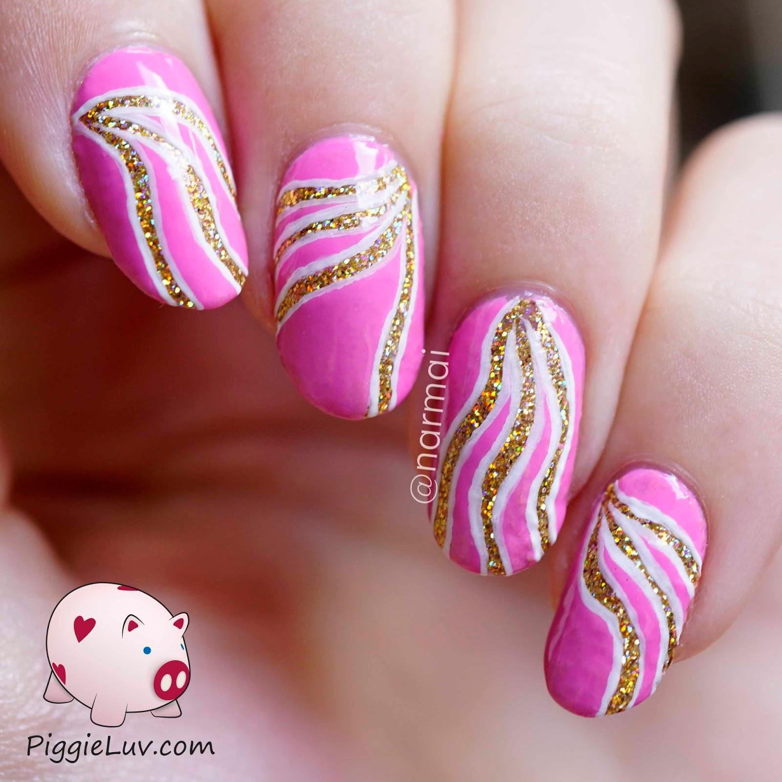 Piggieluv Gold Glitter Vibes Nail Art