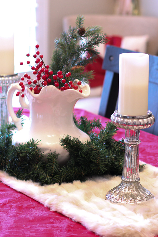 faux fur table runner