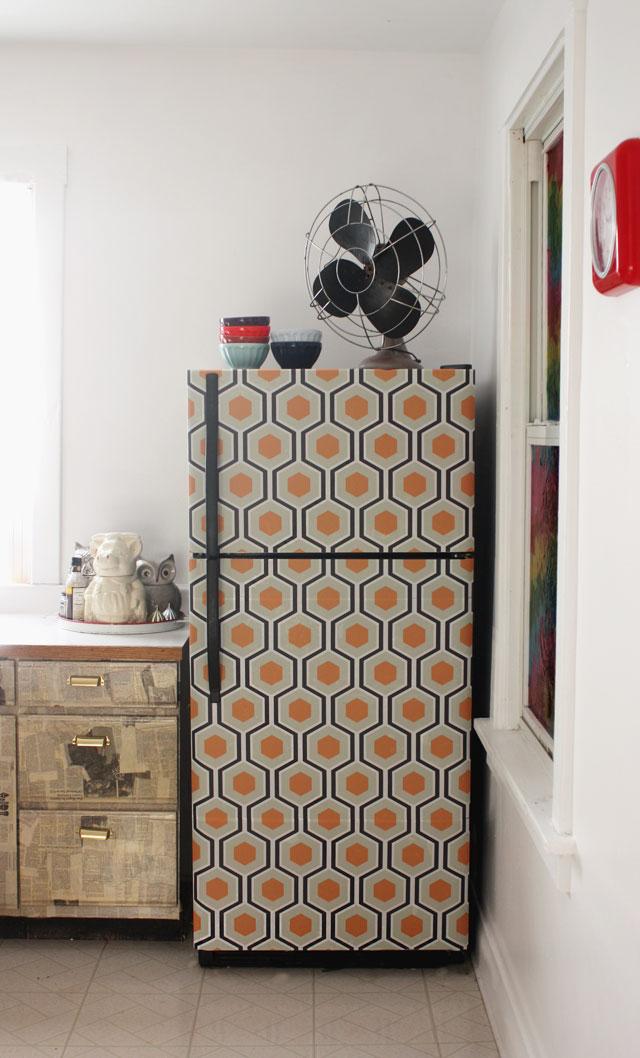 Wallpaper fridge hexagon geomaetric pattern 640