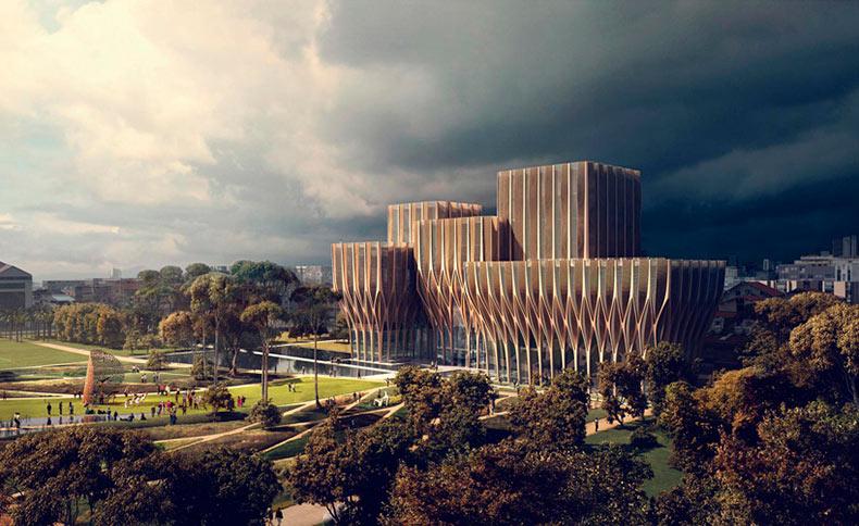 Zaha Hadid revela el diseño para el Centro de Investigación sobre el Genocidio en Camboya