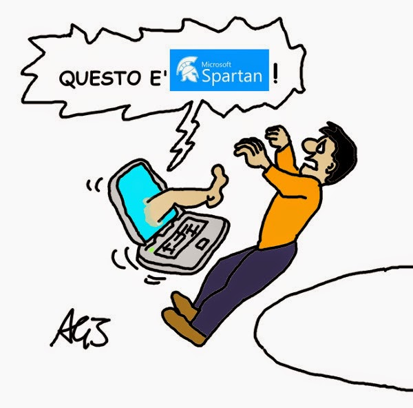 windows 10, spartan, internet explorer, umorismo vignetta