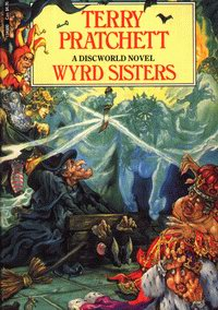 Cover of Wyrd Sisters, a novel by Terry Pratchett