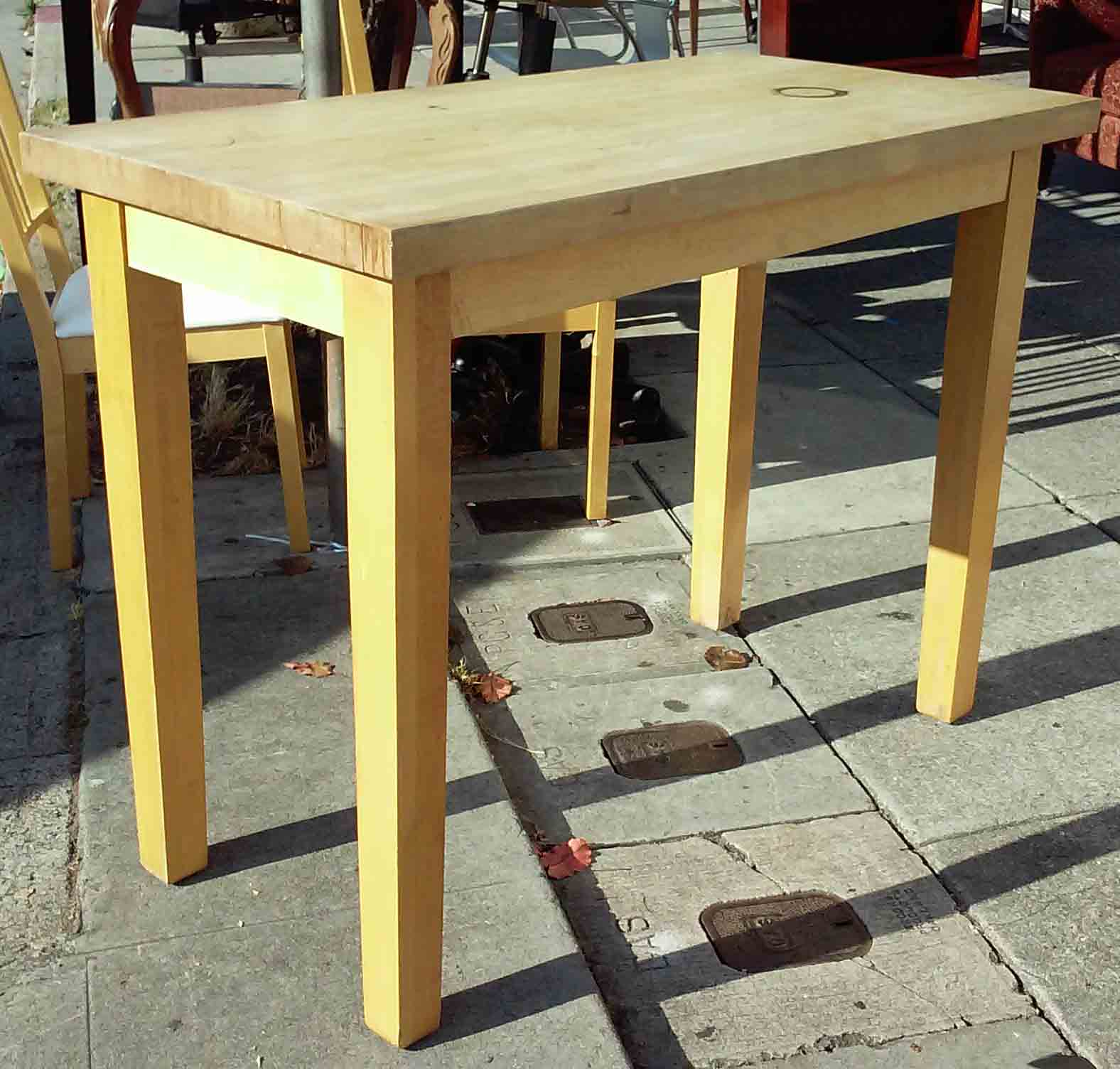 Uhuru furniture collectibles sold butcher block kitchen work table 125 - Butcher block kitchen work table ...