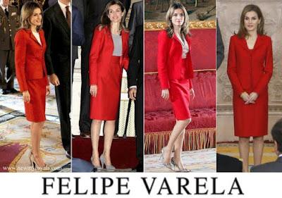Queen Letizia Style Felipe Varela Dress