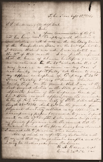 Letter by Capt. Reuben A. Reeves Resigning his Commission
