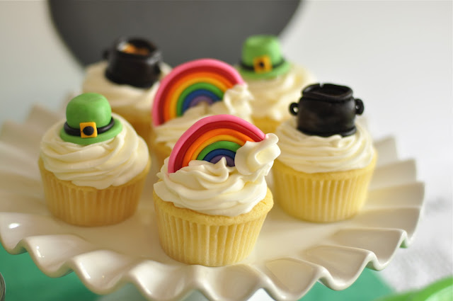 St Patrick's Day Rainbow Inspired Party Cupcakes