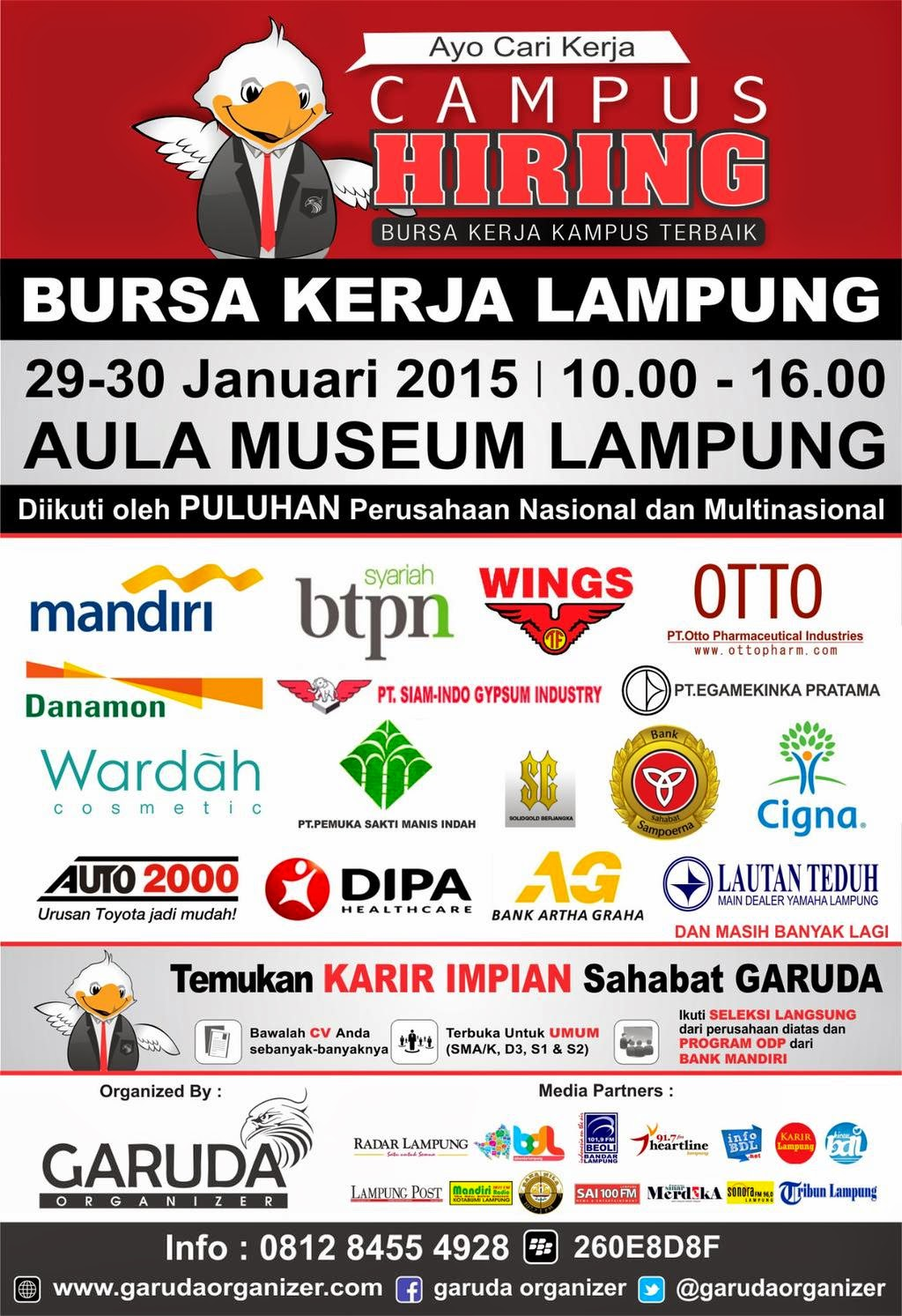 Job Fair Campus Hiring Januari 2015 Lampung