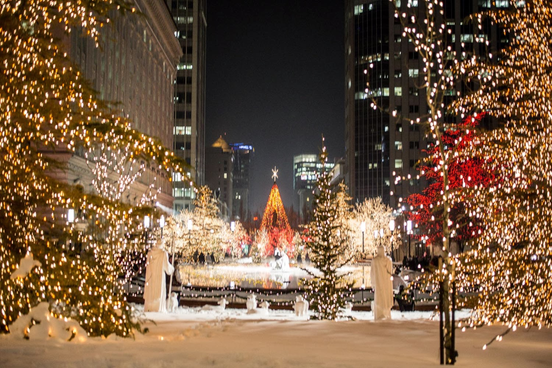 Christmas lights at temple square kelsey bang