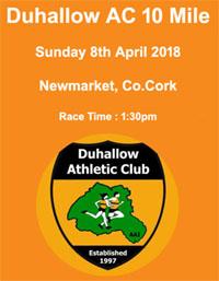 10 mile road race in Newmarket, Co.Cork...Sun 8th Apr 2018