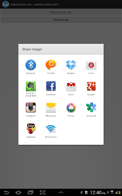 Android Share Intent