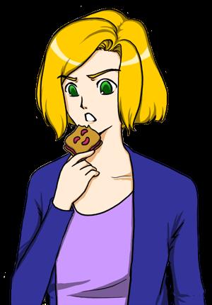 fille qui mange un biscuit BN