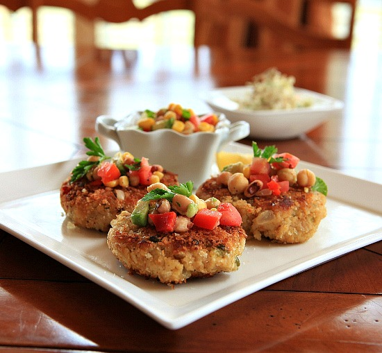 Pinto Bean Cakes With Salsa