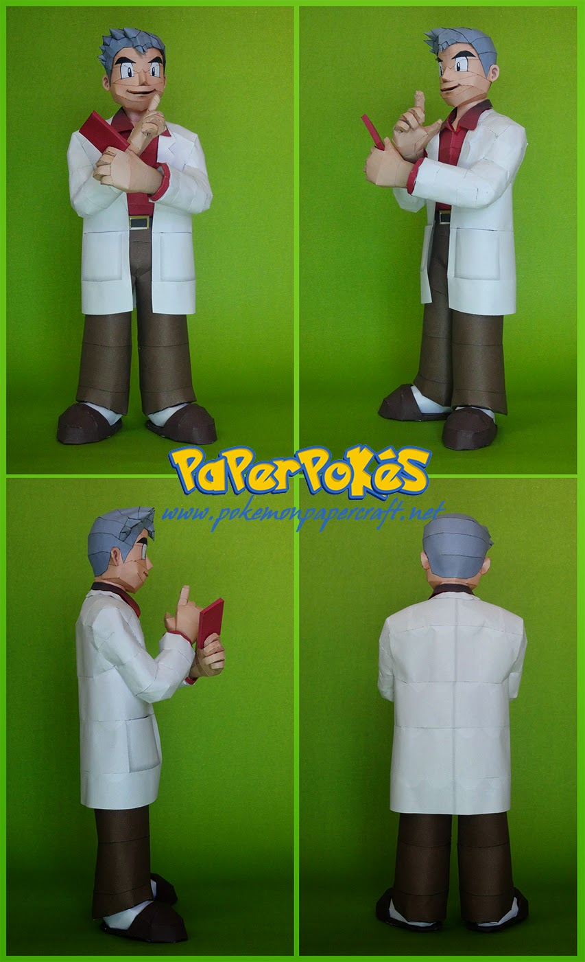 Professor Oak Papercraft