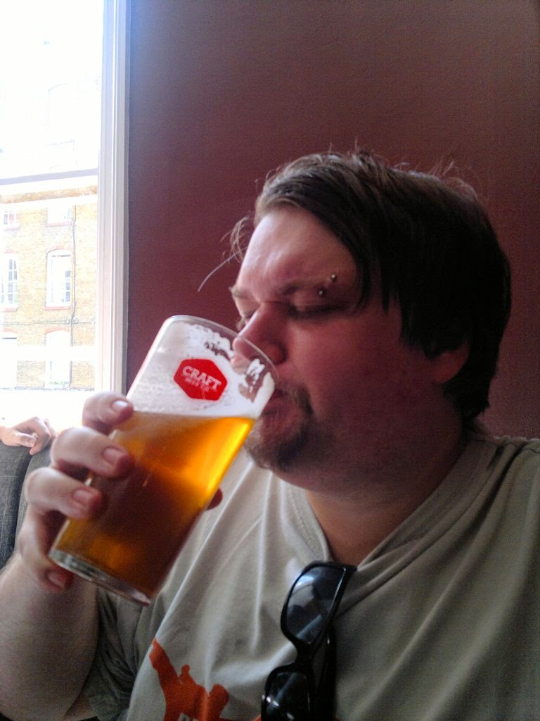 Ben drinking pale ale at the Craft Clerkenwell