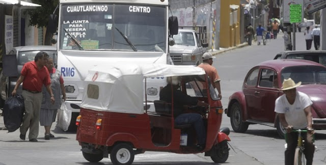 Quedan cinco mototaxis en Cuautlancingo... dicen