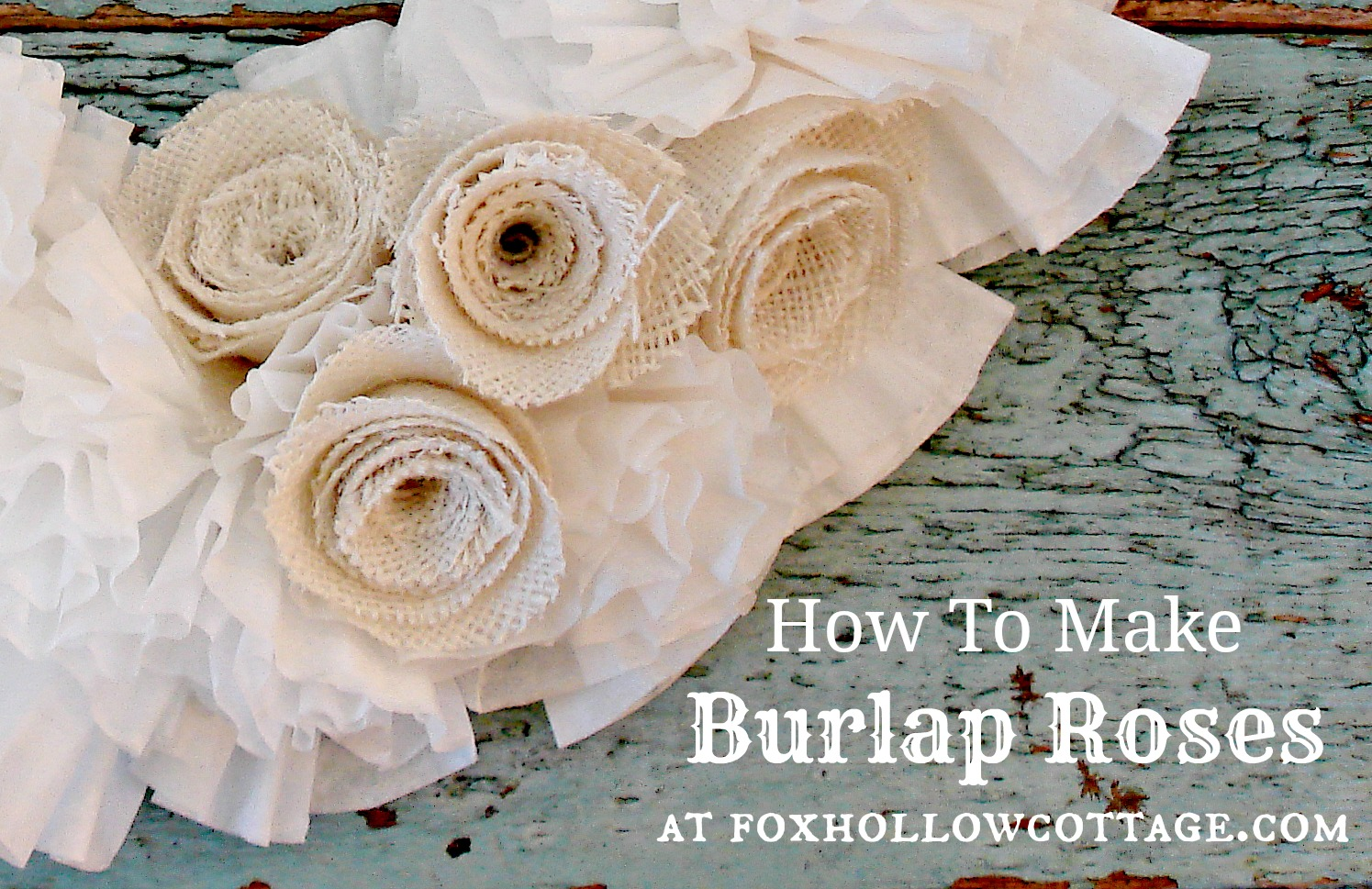 How to make a coffee filter wreath with burlap roses for What can i make with burlap