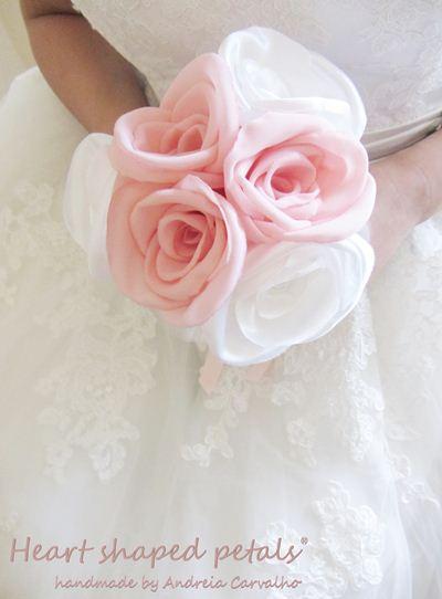 bouquet noiva tons de rosa