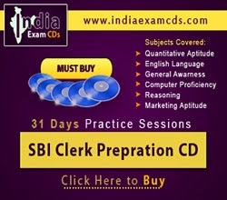SBI Clerk Prepration CD