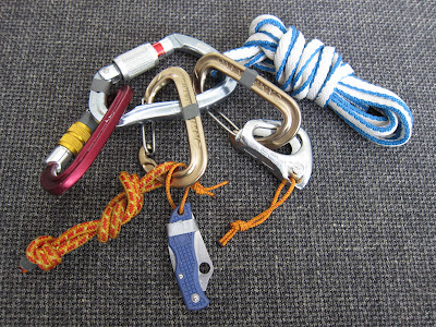 Odd and Ends - Grivel Plume Nut K3N, Camp Nano 23, Petzl TiBloc, Mammut Contact 120 sling