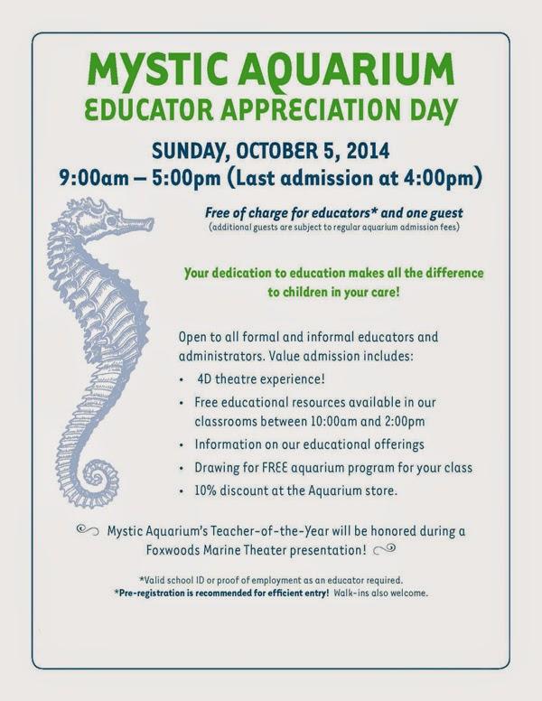 Mystic Aquarium Educator Appreciation Day