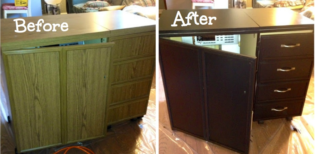 Sewing Cabinet Makeover For My Un-Sewing Room & My Quilt Infatuation: Sewing Cabinet Makeover For My Un-Sewing Room
