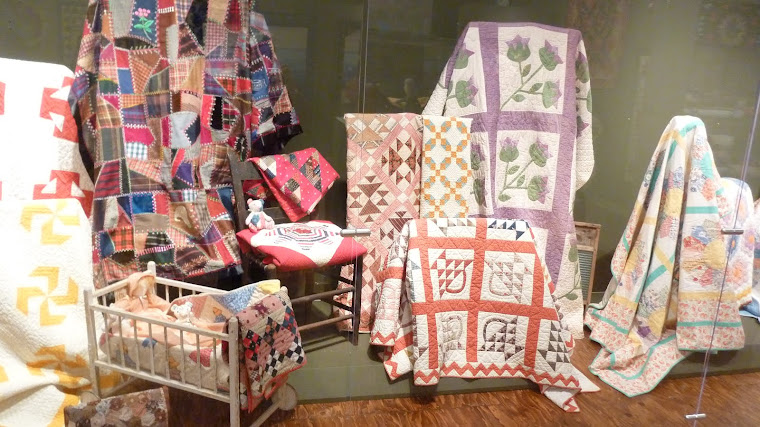 Quilts on display at museum