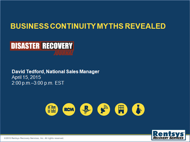 Business Continuity Myths Revealed Presentation Slide