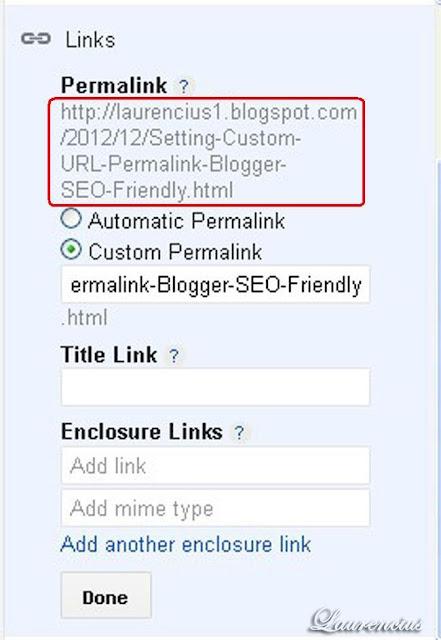 URL-Permalink-Blogger