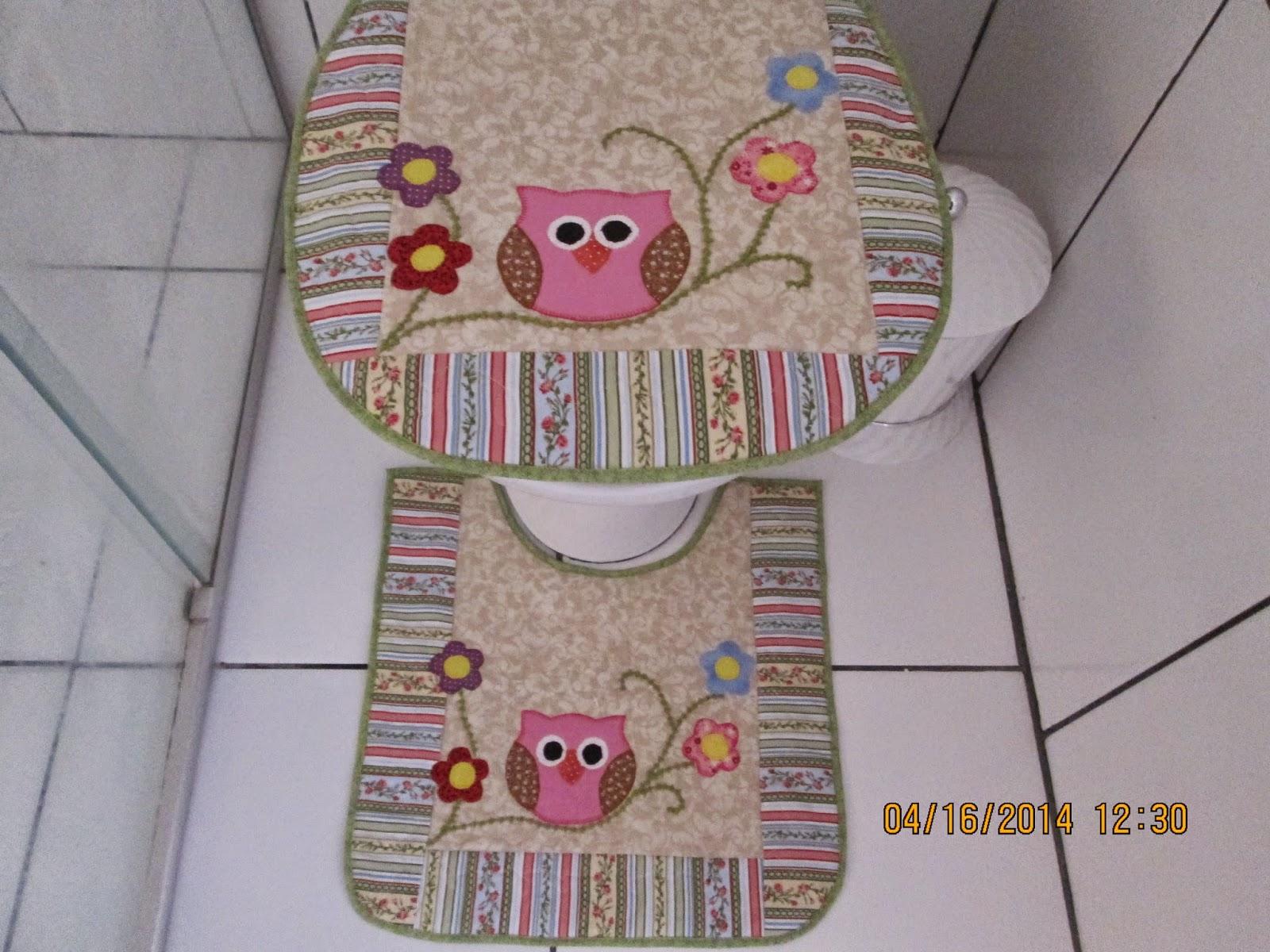 Patchwork Em Tapete De Banheiro : Jogo de Banheiro para atender ao pedido da minha nora Taty.