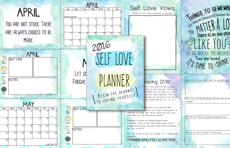 2016 Self Love Planner + Workbook + Calender