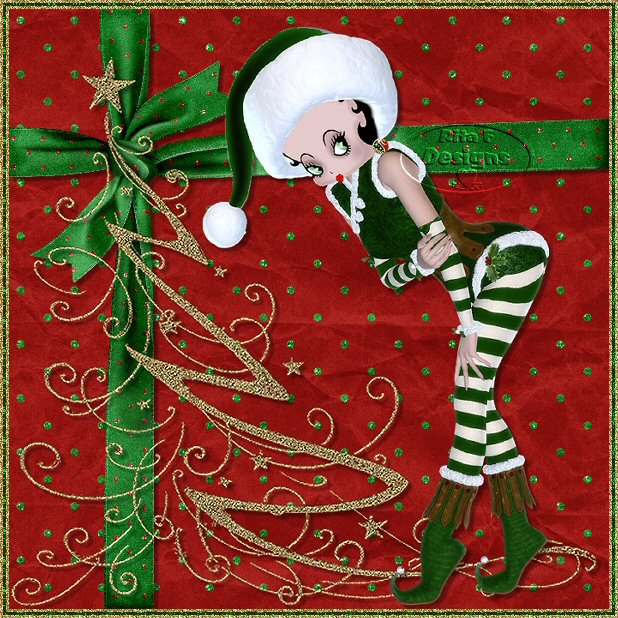 Betty boop pictures archive betty boop christmas pictures by rita f - Betty boop noel ...