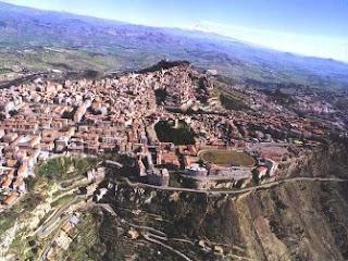 Vistas de Enna en Sicilia