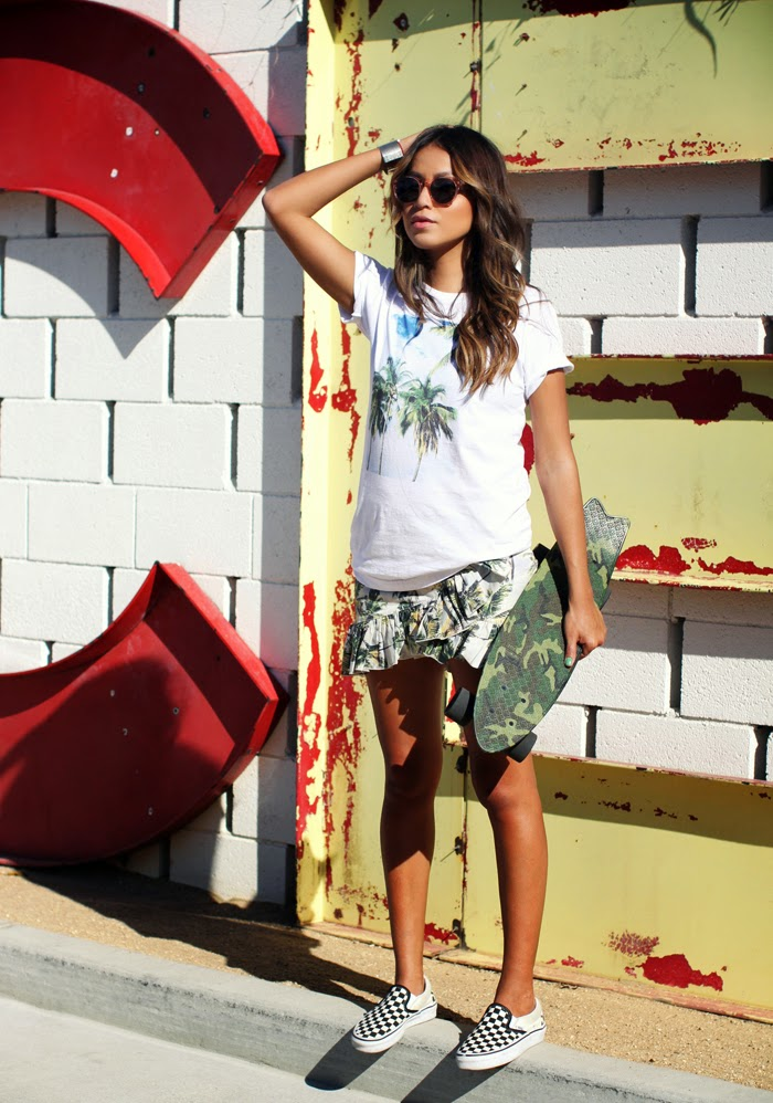 Look con sneakers, Jules, Look surfero, street style, shoes, Vans, Ash, Caribbean