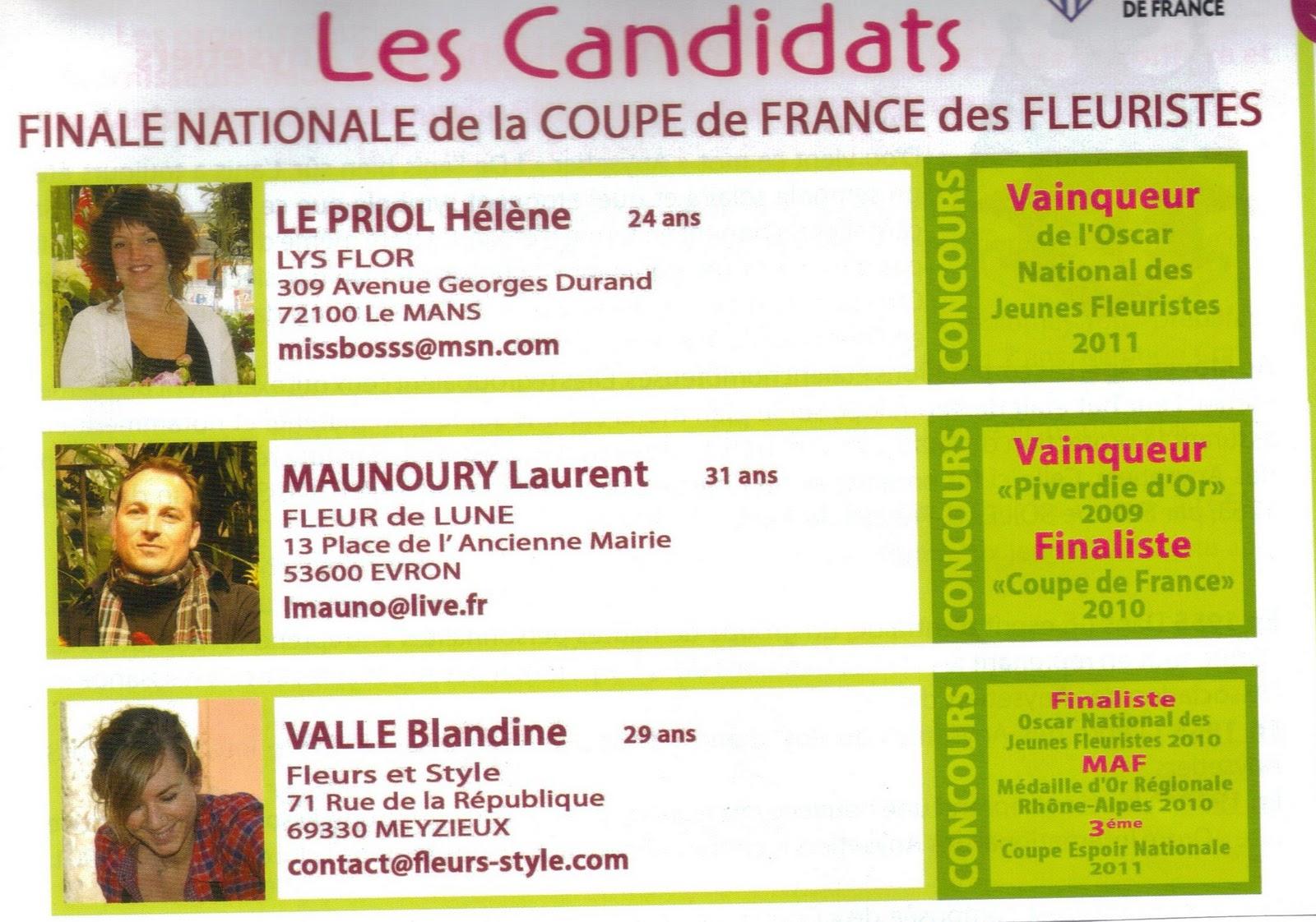 Meyzieux France  city photos : Fleuriste Isabelle Feuvrier: Coupe de France des Fleuristes 2011