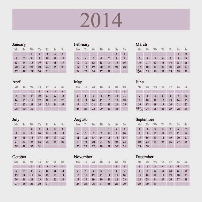 2014 Diary Template - Apigram.Com