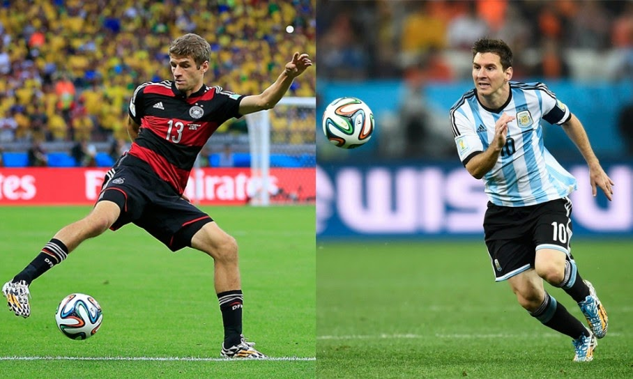 Thomas Muller Vs Lionel Messi FIFA World cup Brazil 2014 Final Match