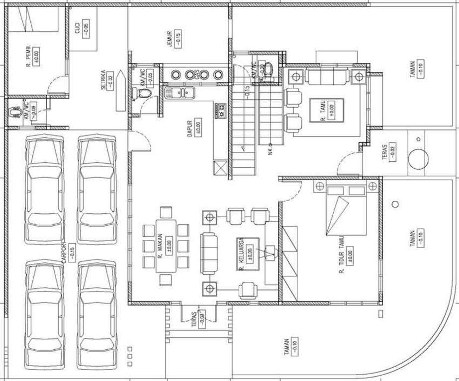 model denah rumah mewah terbaru