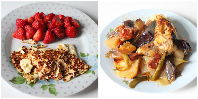 slimming world syn free pancakes with strawberries and hairy dieters spanish chicken with chorizo