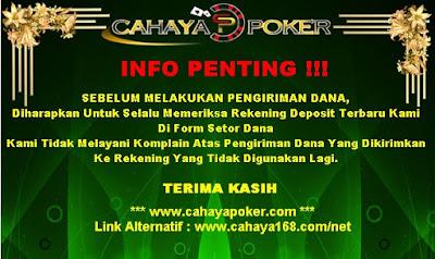 CahayaPoker.com Situs Agen Judi Poker dan Domino Uang Asli Indonesia