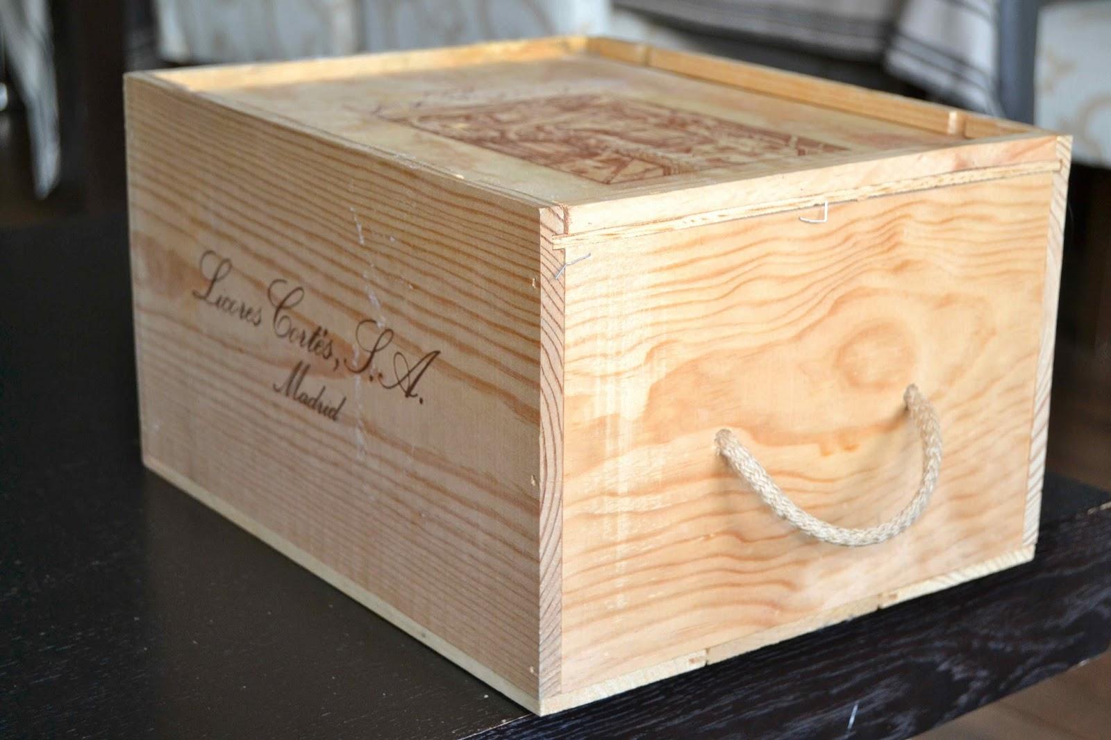 Oro y menta caja de vino - Cajas de vino para decorar ...