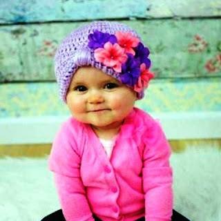 Gambar Bayi Lucu Pakai Turban Rajut Terbaru