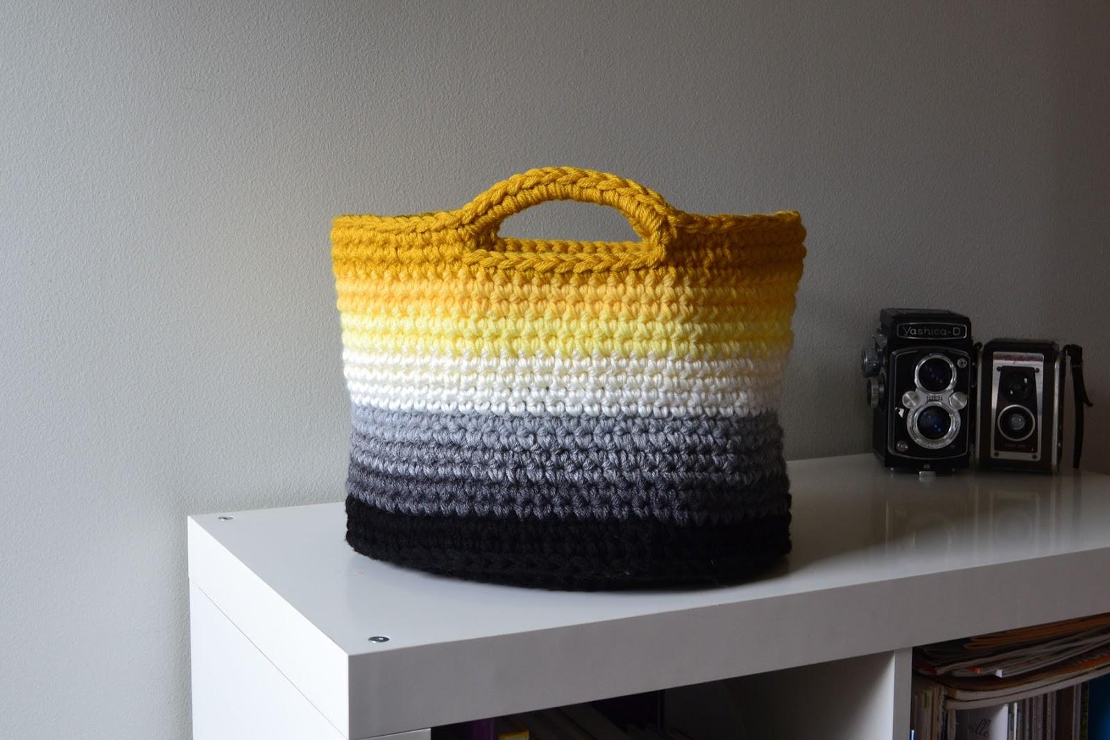 Crochet in Color: Ombre Basket Pattern