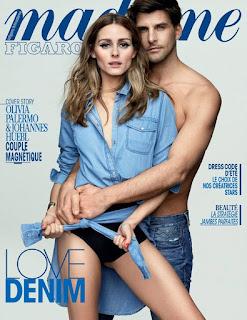 Olivia Palermo and Husband johannes Huebl cover Madame Figaro magazine.