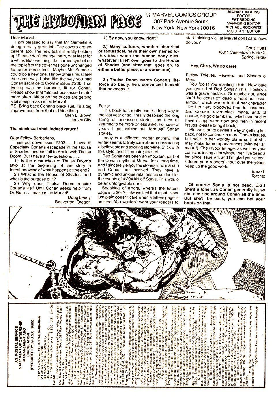 Conan the Barbarian (1970) Issue #207 #219 - English 25